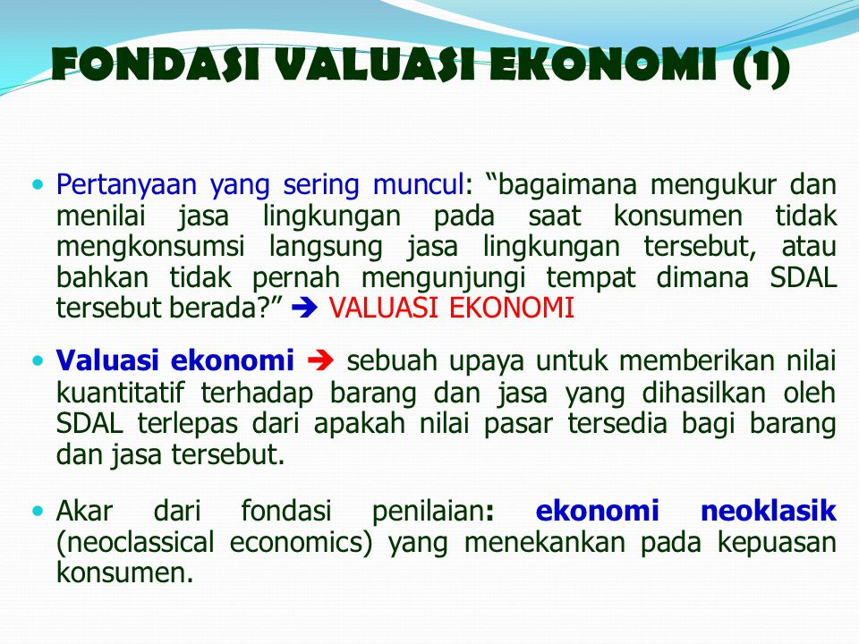 FONDASI VALUASI EKONOMI (1)