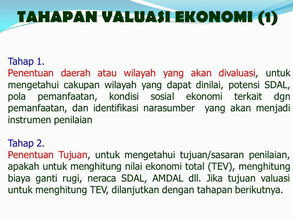 TAHAPAN VALUASI EKONOMI (1)
