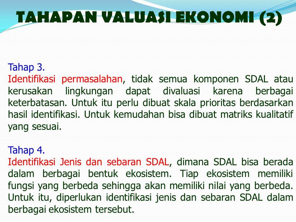 TAHAPAN VALUASI EKONOMI (2)