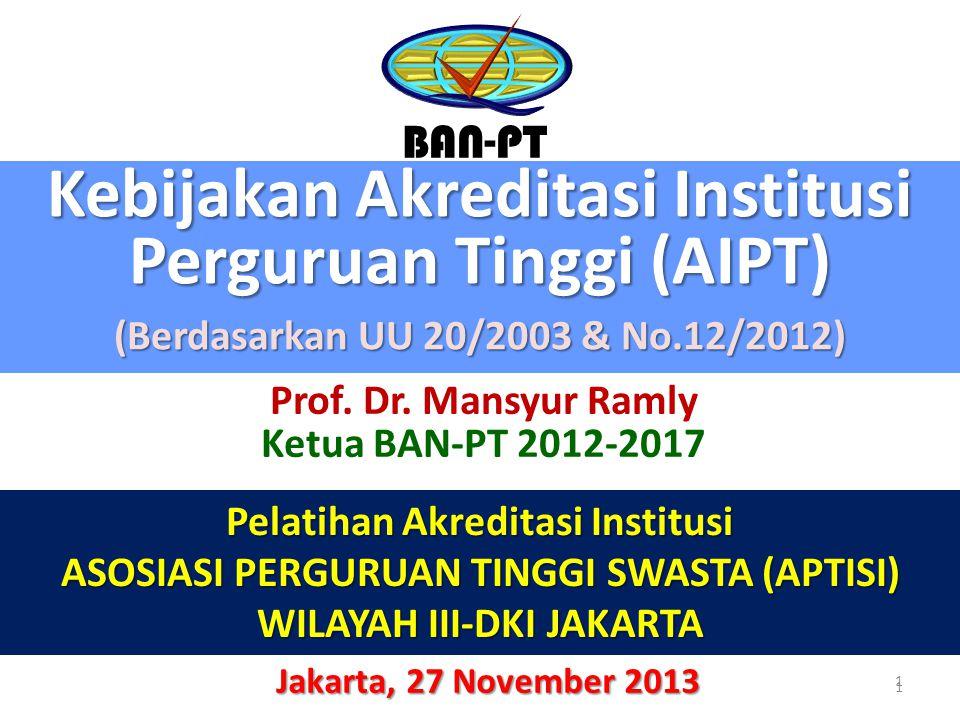 Kebijakan Akreditasi Institusi Perguruan Tinggi (AIPT)