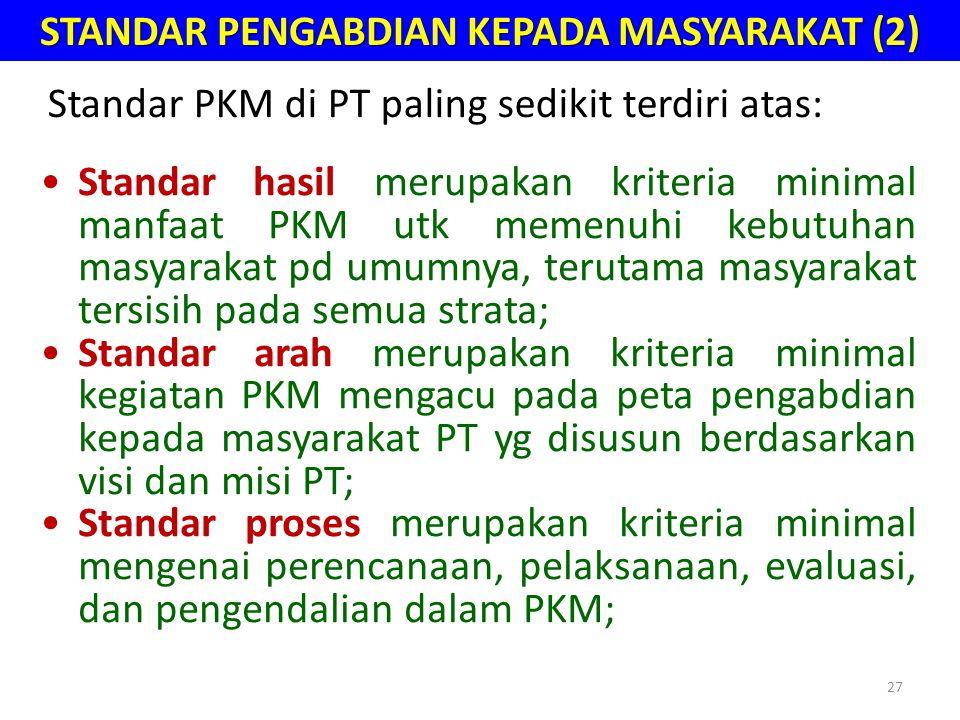 STANDAR PENGABDIAN KEPADA MASYARAKAT (2)