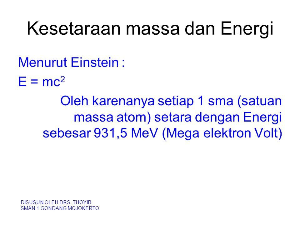 Kesetaraan massa dan Energi