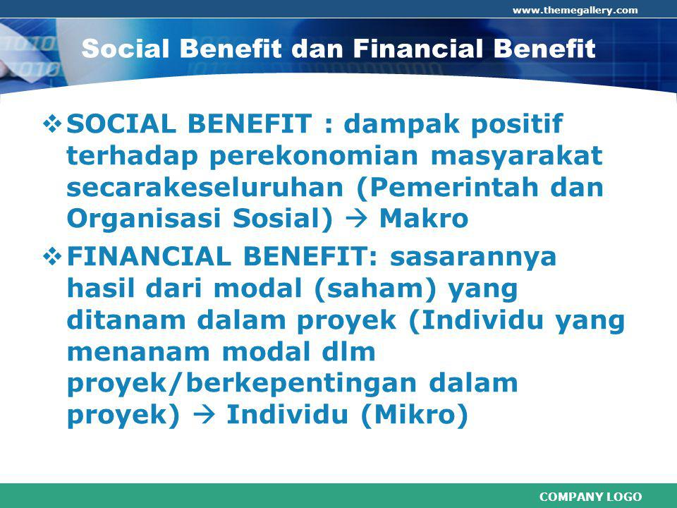 Social Benefit dan Financial Benefit