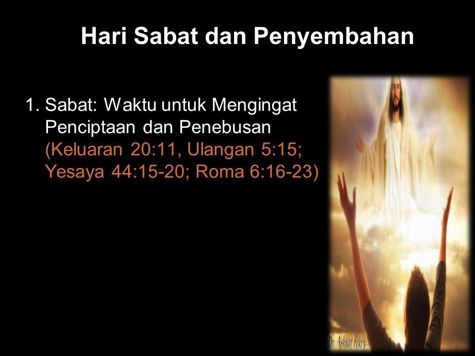Hari Sabat dan Penyembahan
