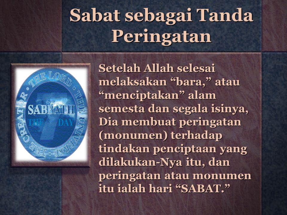 Sabat sebagai Tanda Peringatan