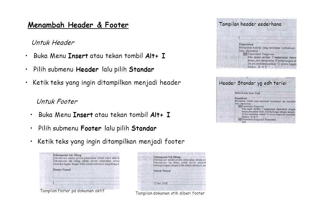 Menambah Header & Footer