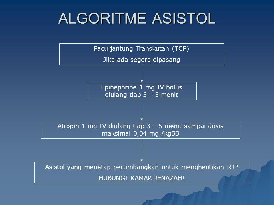 ALGORITME ASISTOL Pacu jantung Transkutan (TCP)