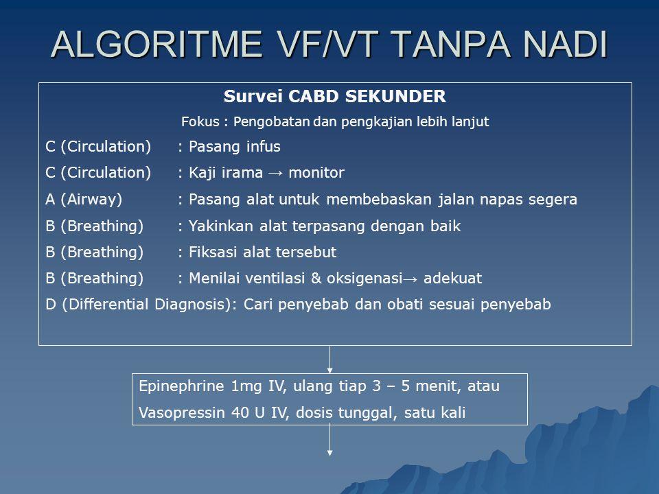 ALGORITME VF/VT TANPA NADI