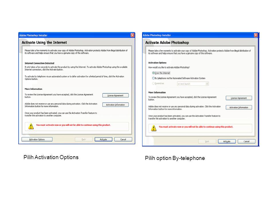 Pilih Activation Options