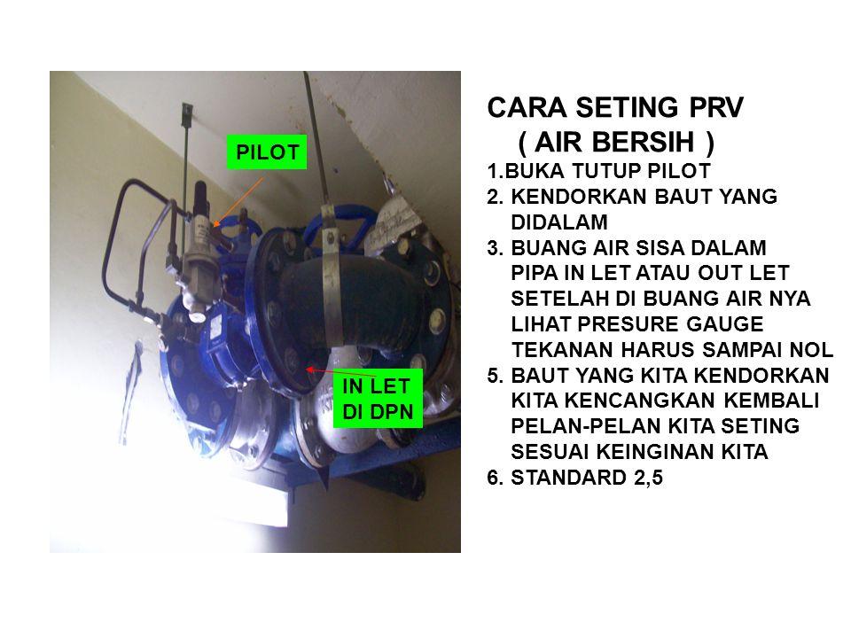 CARA SETING PRV ( AIR BERSIH ) 1.BUKA TUTUP PILOT
