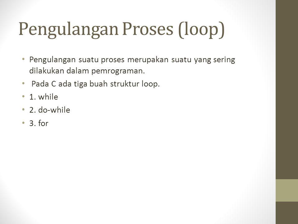 Pengulangan Proses (loop)