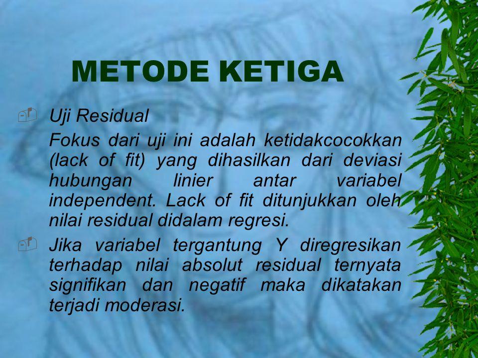 METODE KETIGA Uji Residual