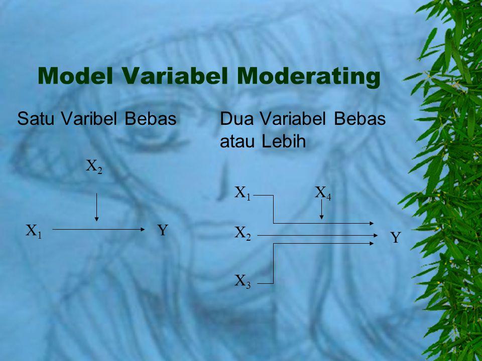 Model Variabel Moderating
