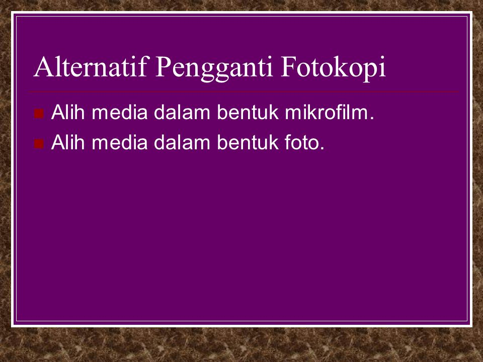 Alternatif Pengganti Fotokopi