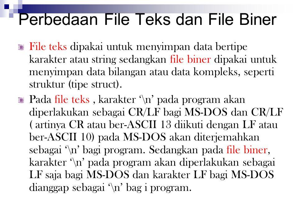 Perbedaan File Teks dan File Biner