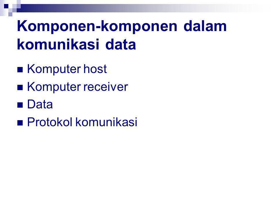 Komponen-komponen dalam komunikasi data