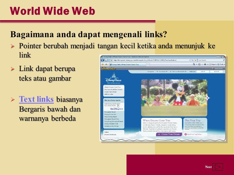World Wide Web Bagaimana anda dapat mengenali links