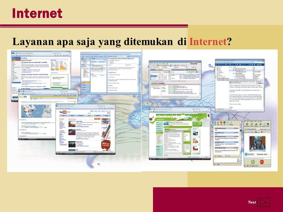 Internet Layanan apa saja yang ditemukan di Internet