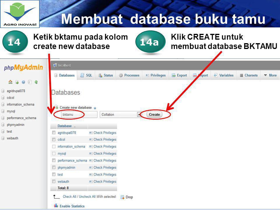 Membuat database buku tamu