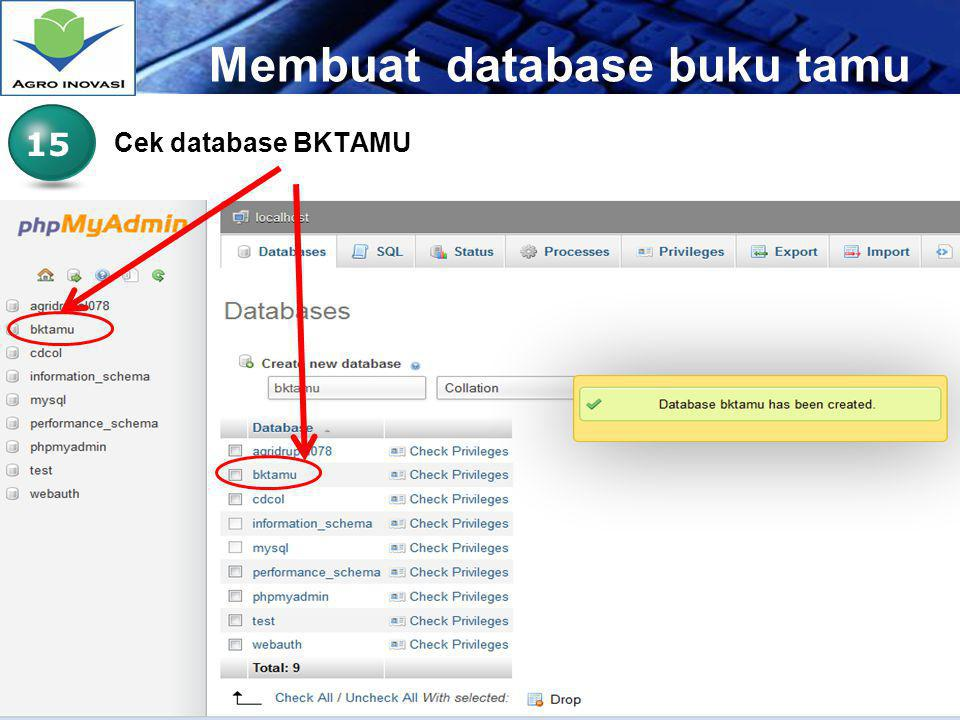 Membuat database buku tamu