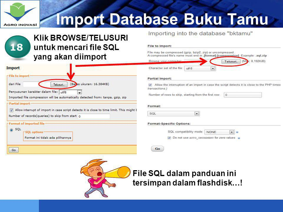 Import Database Buku Tamu