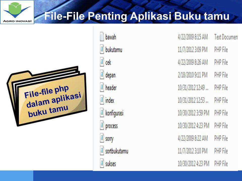 File-File Penting Aplikasi Buku tamu