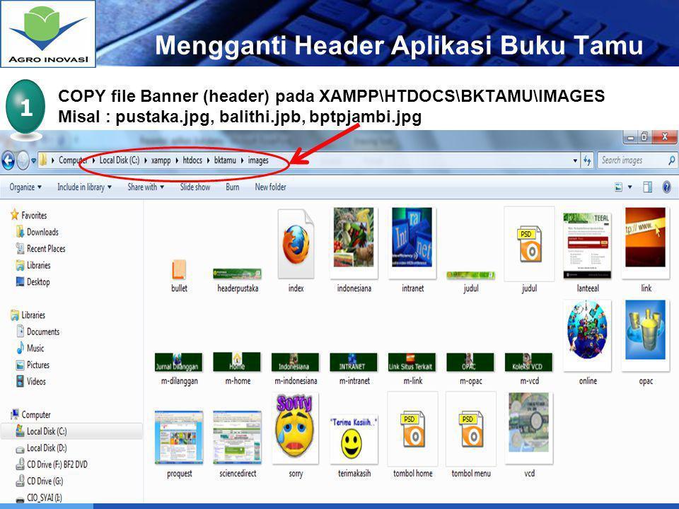 Mengganti Header Aplikasi Buku Tamu