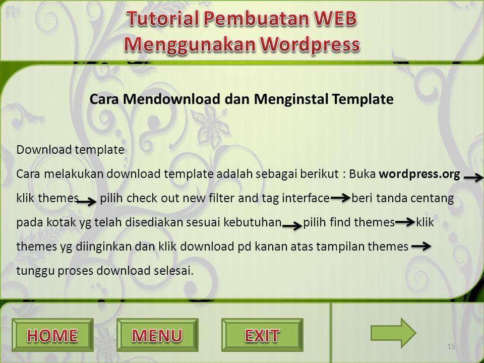 Tutorial Pembuatan WEB Menggunakan Wordpress