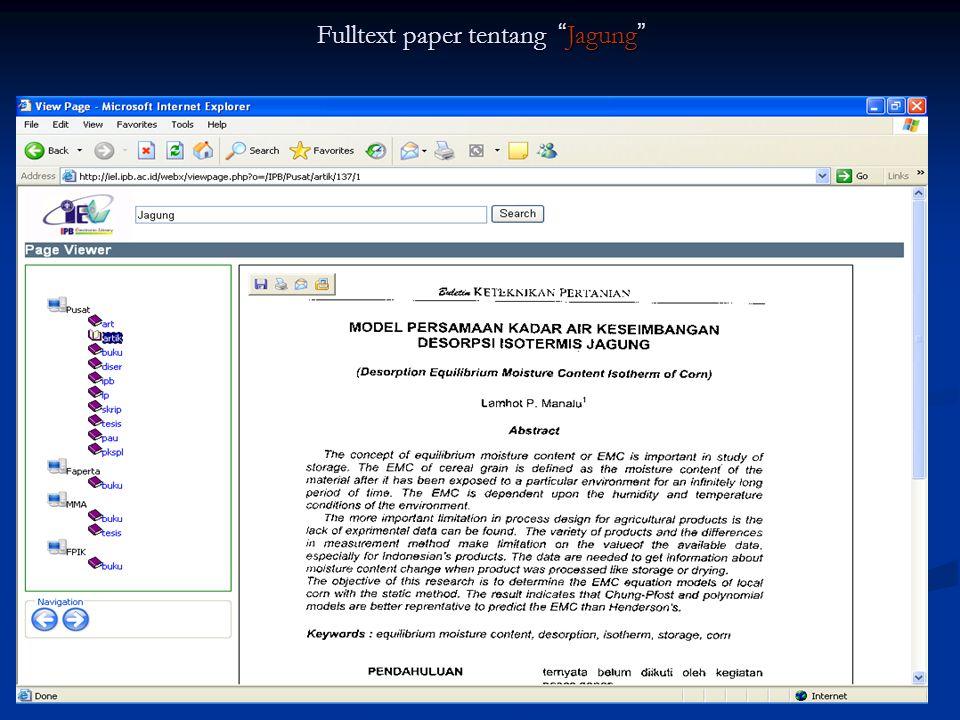 Fulltext paper tentang Jagung