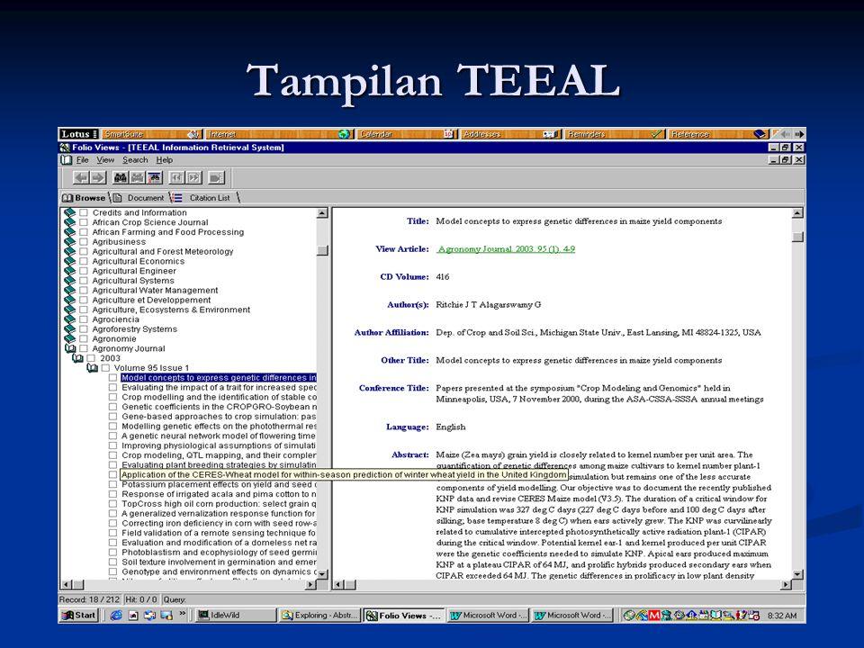 Tampilan TEEAL