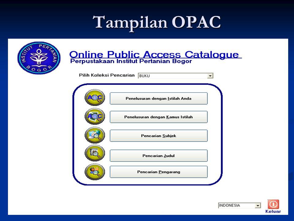 Tampilan OPAC