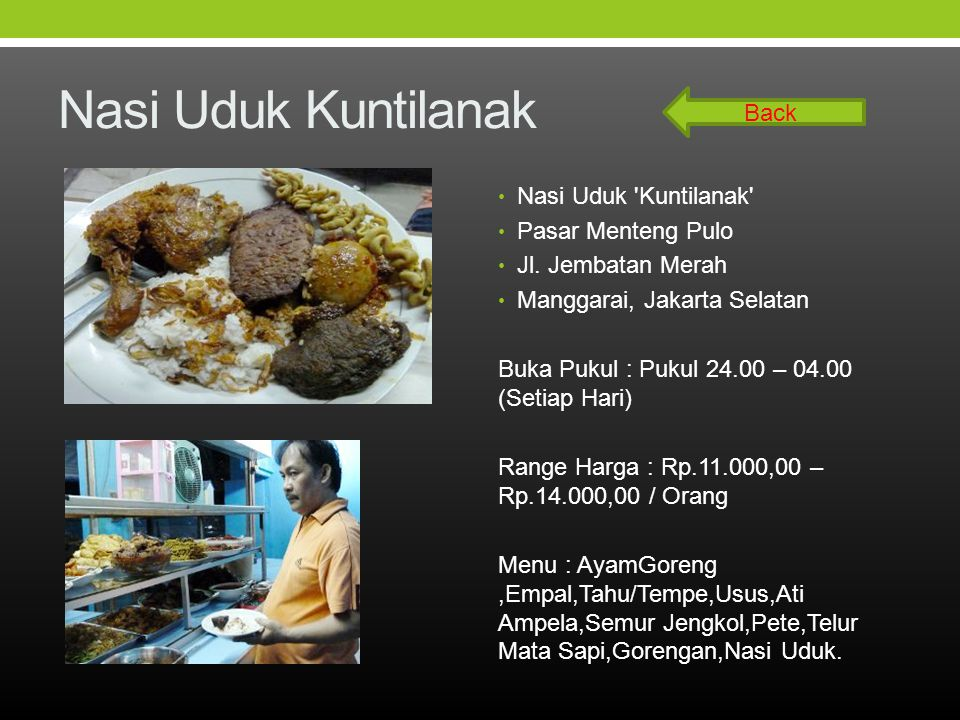 Nasi Uduk Kuntilanak Back Nasi Uduk Kuntilanak Pasar Menteng Pulo