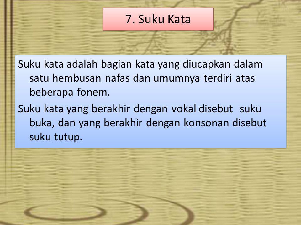 7. Suku Kata