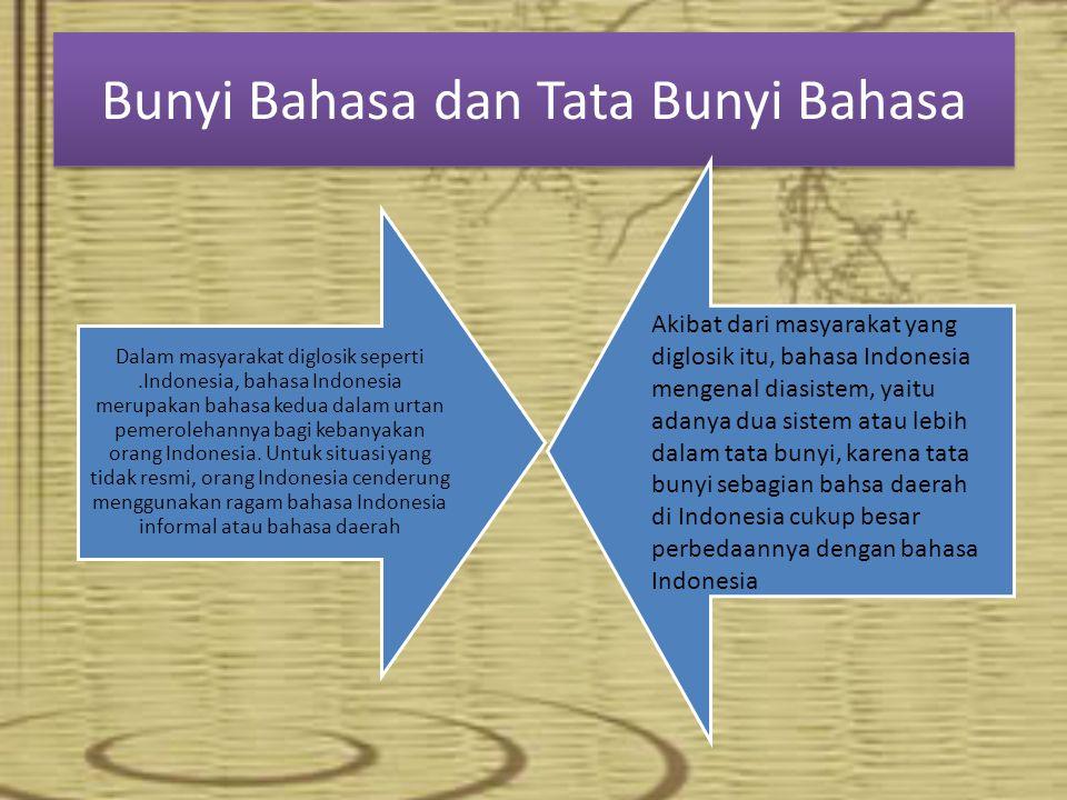 Bunyi Bahasa dan Tata Bunyi Bahasa