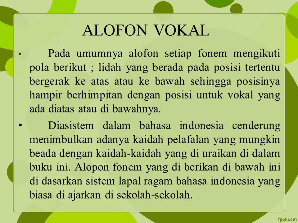 ALOFON VOKAL