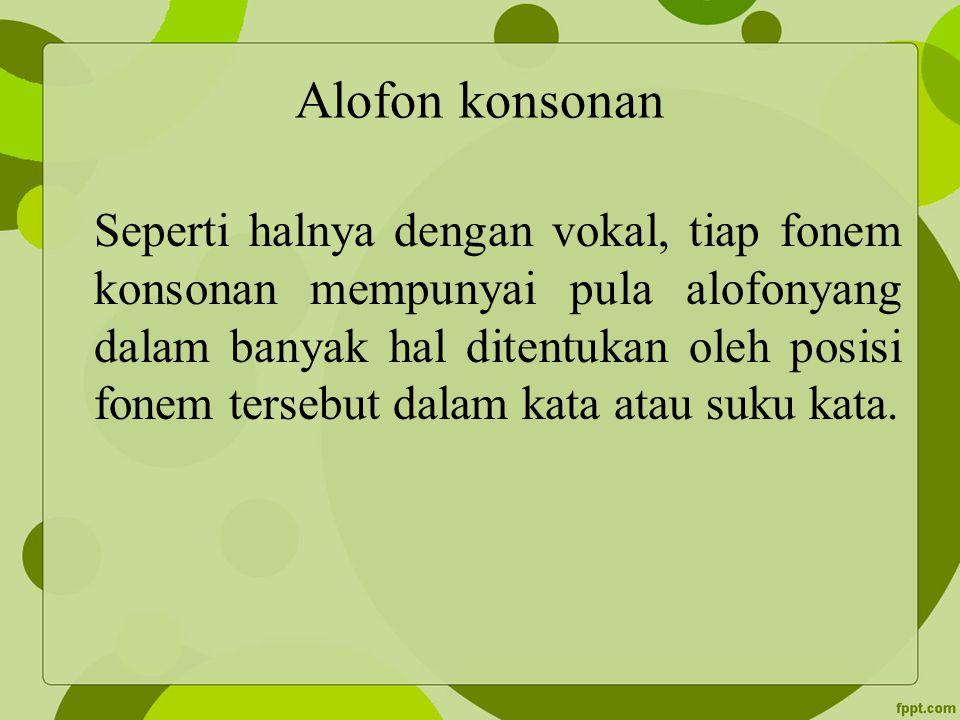 Alofon konsonan