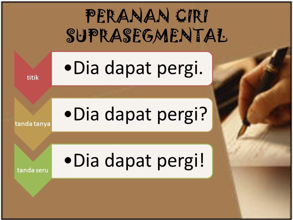 PERANAN CIRI SUPRASEGMENTAL