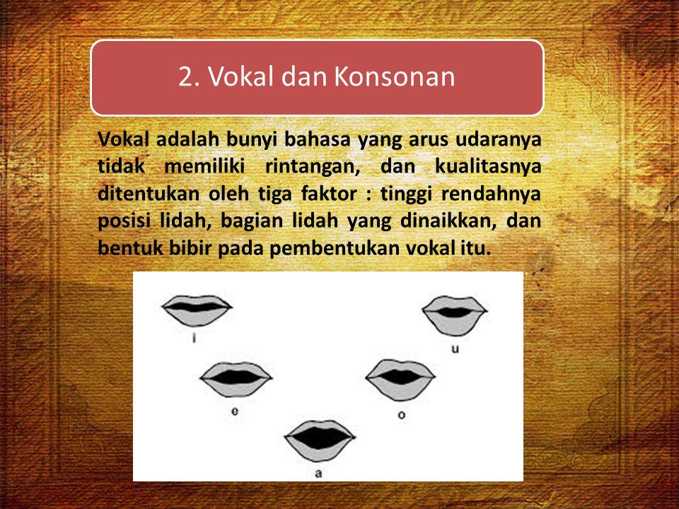 2. Vokal dan Konsonan