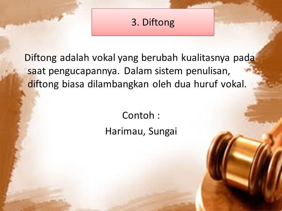 3. Diftong