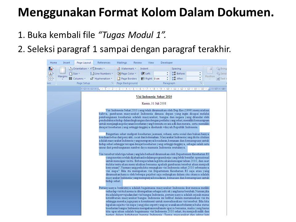 Menggunakan Format Kolom Dalam Dokumen.