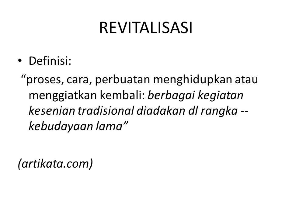 REVITALISASI Definisi: