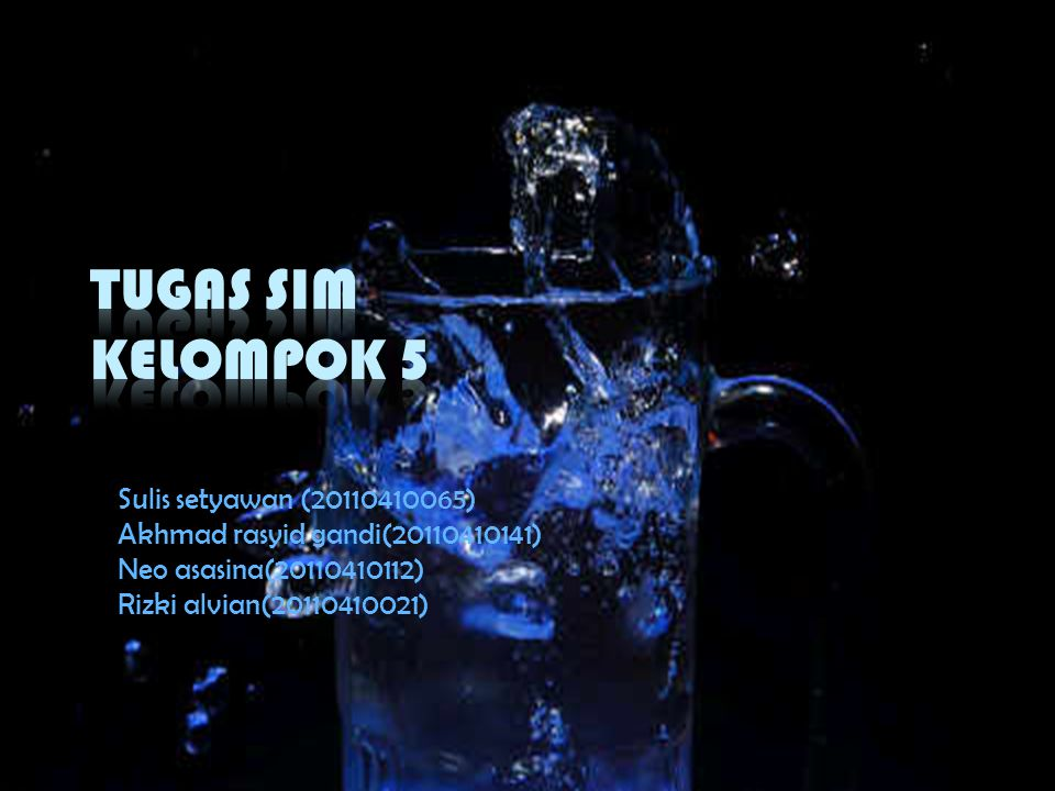 TUGAS SIM KELOMPOK 5 Sulis setyawan (20110410065)
