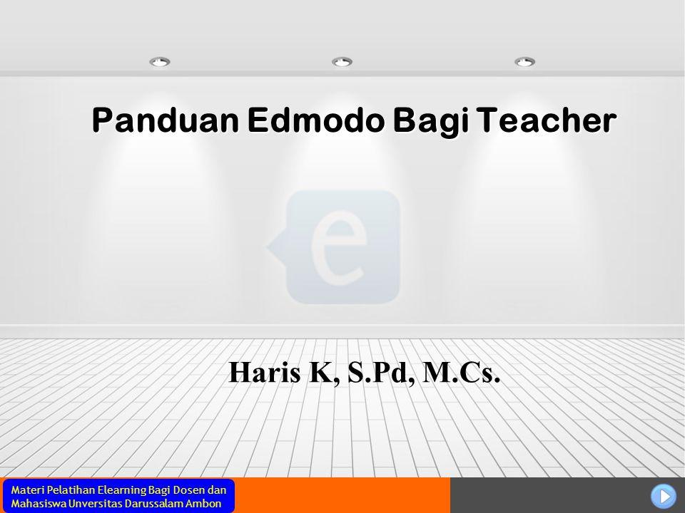 Panduan Edmodo Bagi Teacher