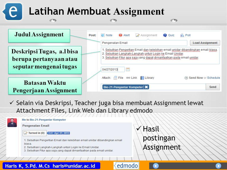 Batasan Waktu Pengerjaan Assignment