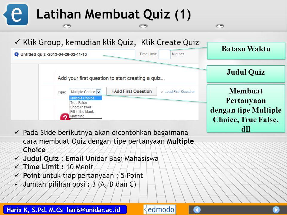 Latihan Membuat Quiz (1)
