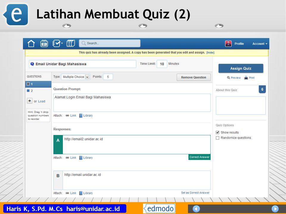 Latihan Membuat Quiz (2)