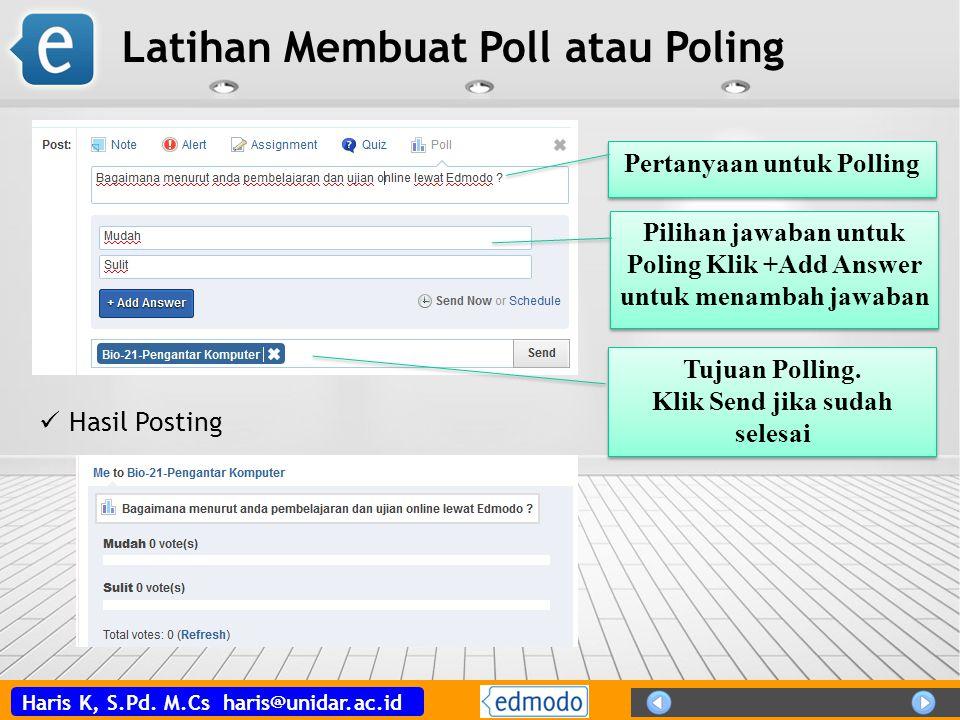 Latihan Membuat Poll atau Poling
