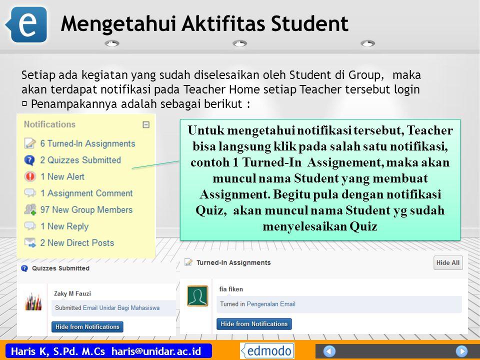 Mengetahui Aktifitas Student