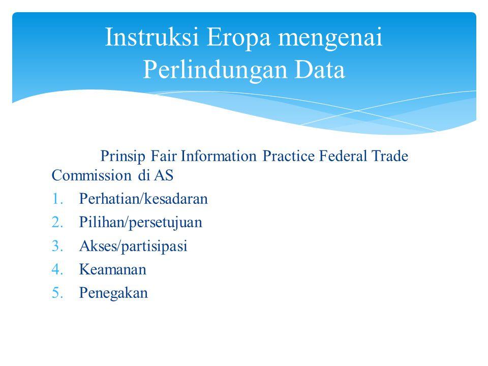 Instruksi Eropa mengenai Perlindungan Data
