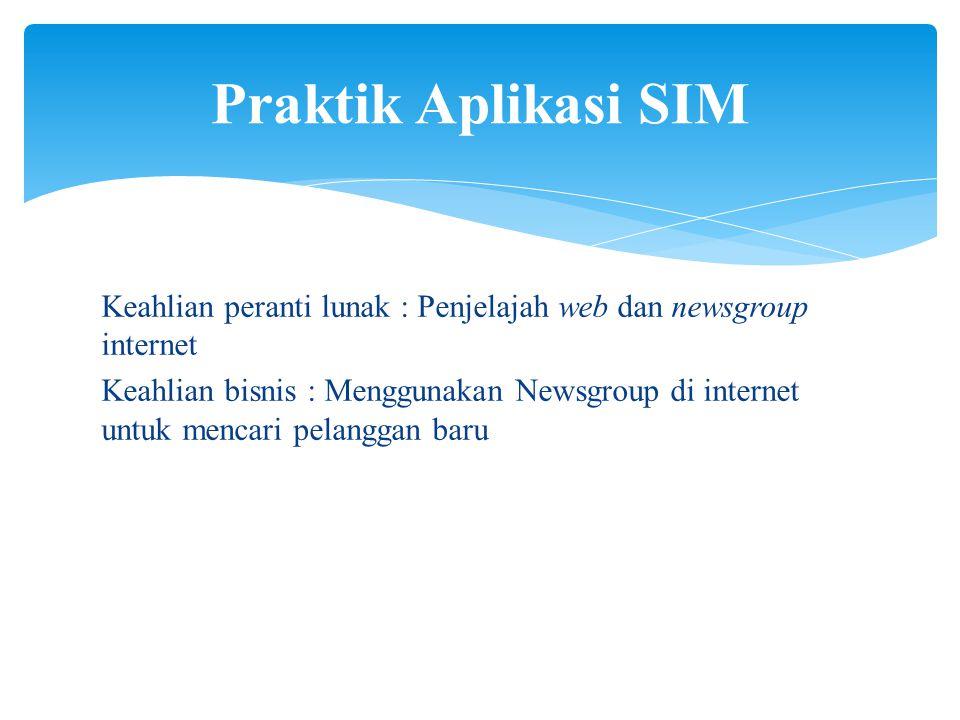 Praktik Aplikasi SIM